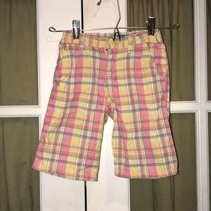 the children's place plaid bermuda shorts sz 6